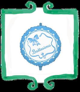 Palloncino mylar Battesimo fiocco bambino - 18 in (45 cm)