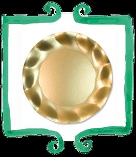 Piatto Piano Oro Lucido- 10 pezzi