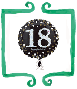 Palloncino 18 anni Black and White party