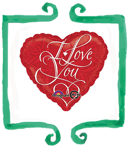 Palloncino Cuore I love you