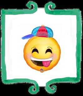 Palloncino Mylar Emoticon Con Cappellino