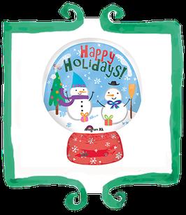 "Palloncino mylar Globo Happy Holidays 15""x20""/38x50cm"