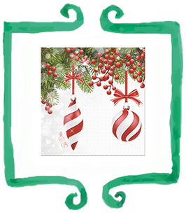 Tovaglioli Pretty Christmas - 16 pezzi