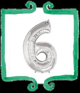 Palloncino Numero 6 grande - 100 cm