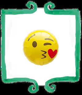 Palloncino Mylar Emoticon Bacio