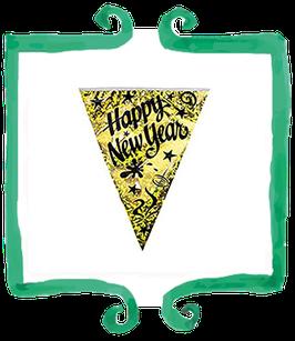 Bandierine Capodanno Happy New Year!