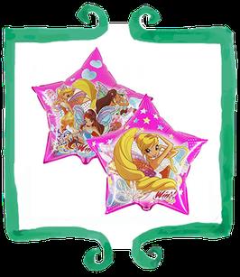 """Palloncino Mylar Winx a forma di stella 26""""/66 cm"""