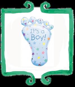 Palloncino Nascita Piede It's a Boy celeste