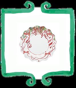Piattino Dessert Pretty Christmas - 21 cm 8 pezzi