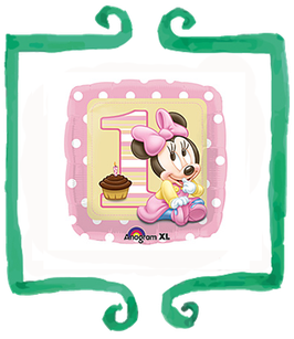 Palloncino 1 Compleanno Baby Minnie