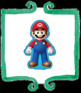 Palloncino mylar Super Mario sagomato 86cmx52cm