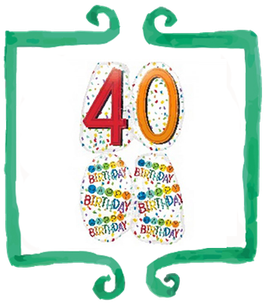 Palloncino mylar 40 anni sagomato