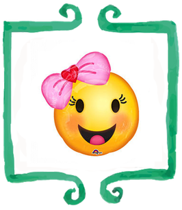 Palloncino Mylar Emoticon con Fiocco