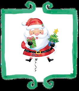 Palloncino Mylar Babbo Natale - 31 in x 26 in (78 cm x 66 cm)