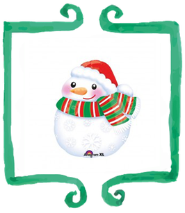 Palloncino Mylar Pupazzo di Neve - 14 in x 17 in (35 cm x 43 cm)