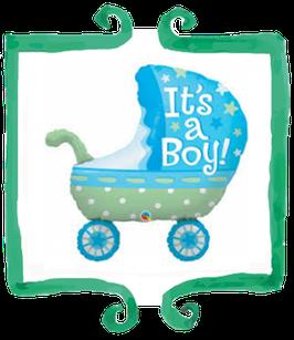 "Palloncino mylar Carrozzina It's a boy! - 35"" (89 cm)"
