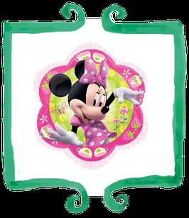 """Palloncino mylar Minnie fiore 18""""/45cm"""