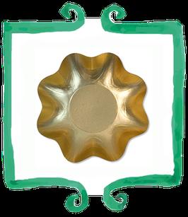 Piatto Fondo Oro Lucido - 10 pezzi
