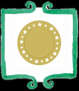 Sottopiatto Oro con Stelle Glitterate - 2 pezzi