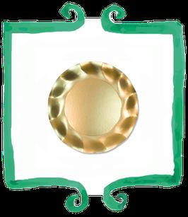 Piattino Dessert Oro Lucido - 10 pezzi