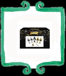 Kit Cotillons capodanno oro e argento per 10 persone