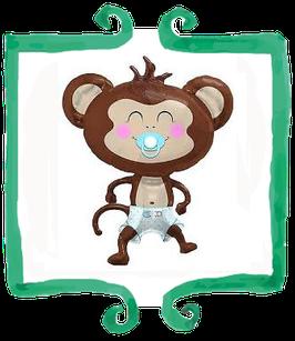 Palloncino Nascita Scimmia celeste
