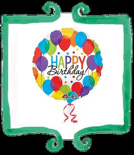 Palloncino mylar Happy Birthday! - 18 in (45 cm)