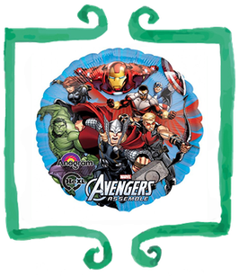"Palloncino mylar Avengers tondo 18""/45cm"
