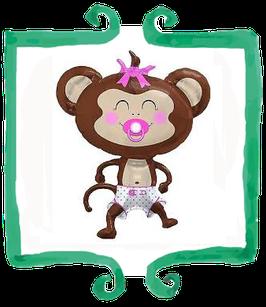 Palloncino Nascita Scimmia rosa