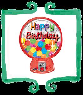 Palloncino Happy Birthday Macchina Caramelle