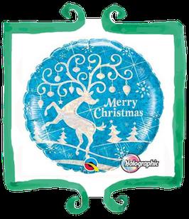 "Palloncino mylar Merry christmas renna 18""/45cm"