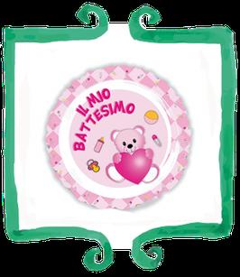 Palloncino mylar Il mio Battesimo rosa - 18 in (45 cm)