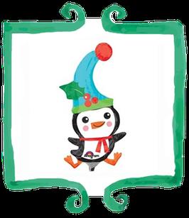 Palloncino Mylar Pinguino - 13 in x 33 in (33 cm x 83 cm)
