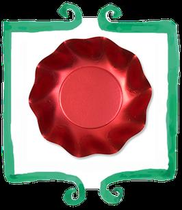 Piatto Fondo Rosso - 10 pezzi