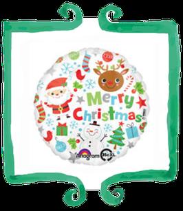 Palloncino Mylar Merry Christmas! - 17 in (43 cm)