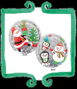 Palloncino Mylar Personaggi di Natale - 17 in (43 cm)