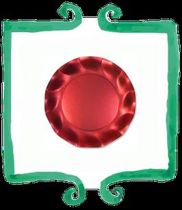Piattino Dessert Rosso - 10 pezzi