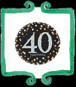 Palloncino 40 anni metallizzato