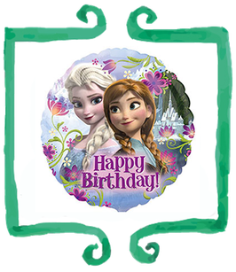 "Palloncino mylar Frozen Happy Birthday 18""/45cm"