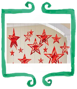 Stelle soffitto rosso
