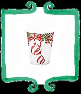 Bicchieri Pretty Christmas - 8 pezzi