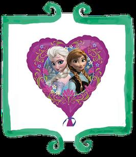 "Palloncino mylar Frozen cuore 18""/45cm"
