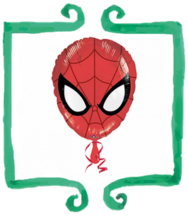 "Palloncino mylar Spiderman maschera 18""/45cm"