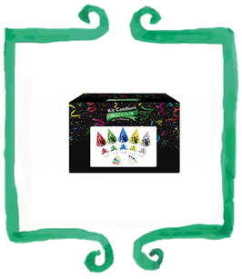 Kit Cotillons capodanno multicolor per 10 persone
