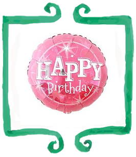 Palloncino Happy Birthday rosa - Qualatex