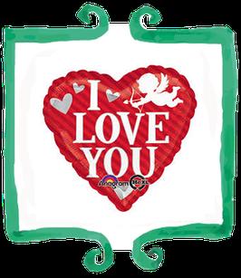 Palloncino Cuore I love you con angioletto
