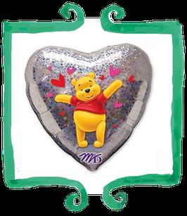"Palloncino mylar Winnie the pooh 18""/45cm"