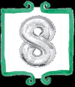 Palloncino Numero 8 grande - 100 cm