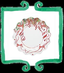 Piatto Piano Pretty Christmas - 27 cm 8 pezzi