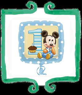 Palloncino 1 Compleanno Baby Topolino